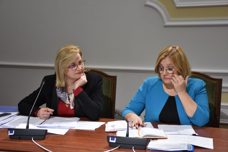 "Klotilda Bushka and Vasilika Hysi, The 2 Albanian co-relators of the socalled ""Anti-defamation"" package 